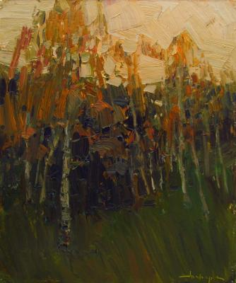 Birch evening. Makarov Vitaly