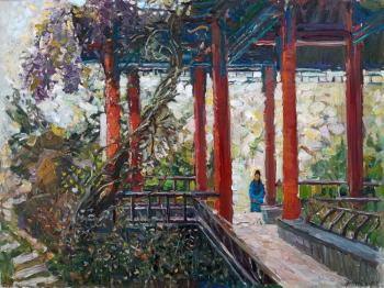 In the Chinese garden. Zhukova Juliya