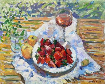 Breakfast with strawberries. Zhukova Juliya