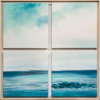In the blue and distant ocean (polyptych). Dupree Brian