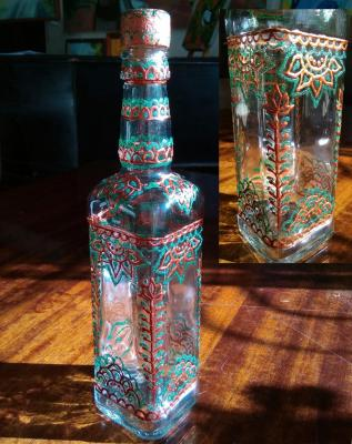 Bottle. Autumn sun. Razumova Lidia