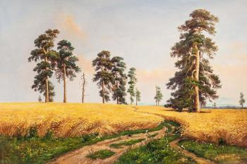 Copy of Ivan Shishkin's painting. Rye. Kamskij Savelij