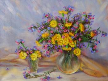 Mother-and-stepmother and honeydew (Wild Flowers). Razumova Svetlana