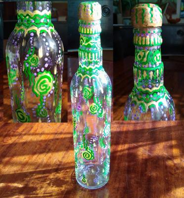 "Bottle ""Water riddles"". Razumova Lidia"