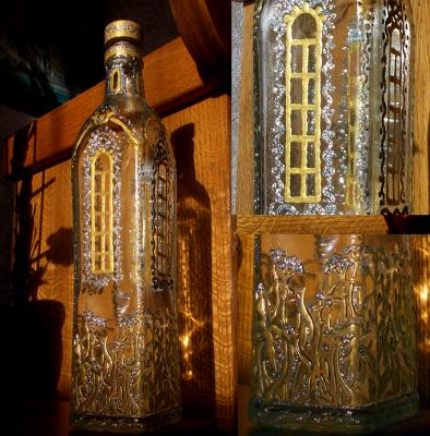 "Bottle ""Icy tower"". Razumova Lidia"