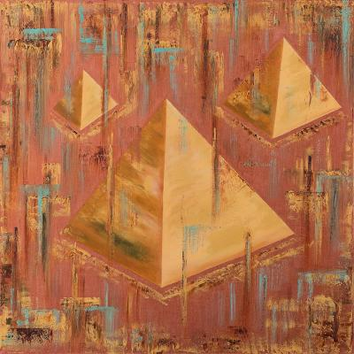 "Golden Pyramids (Art cycle ""Golden Life"")"