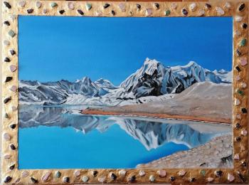 "Central Tibet - At the Lake (Art series ""Real Tibet"" )"