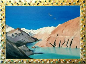 "Central Tibet-On the Pass (Art cycle ""Real Tibet"")"