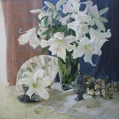 Lace of white lilies. Kukueva Svetlana
