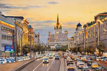 Lights of Evening Moscow. Kamskij Savelij