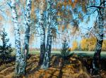 Ergunov Anatoliy. Birch trees on the slope