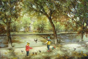 Chistye ponds. View of the Sovremennik Theater. Boev Sergey