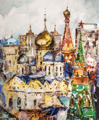 Golden-domed Moscow. In the spiritual heart of the capital (Modern Impressionism). Rodries Jose