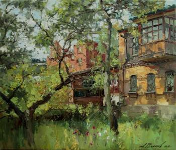 Freshness of the morning. Courtyards of Vladivostok. Galimov Azat