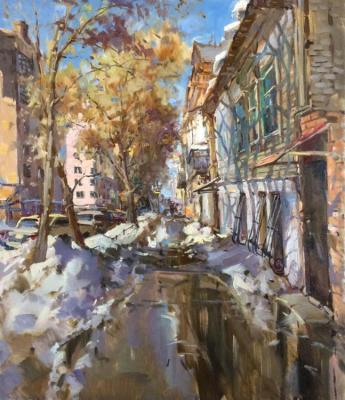 April in the city (Old City Street). Mishagin Andrey