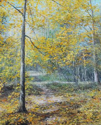 A bright day in the autumn grove. Vokhmin Ivan