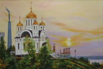 The temple on the bank of the beloved Volga. Usianov Vladimir