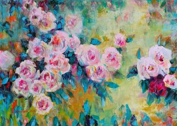 Pink happiness (Painting Of Roses). Kruglova Svetlana