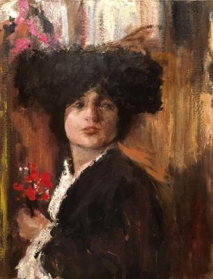 Girl in a Spanish costume (A copy of a painting by Antonio Mancini). Zhmurko Anton
