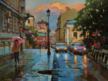 May rain in Petrovsky lane. Volkov Sergey