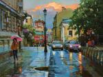 Volkov Sergey. May rain in Petrovsky lane