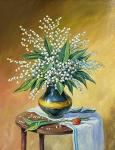 Gaynullin Fuat. Still life with lilies of the valley