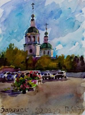 Zaraysk, market at the Trinity Church, morning. Dobrovolskaya Gayane