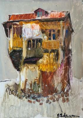 Old house in Yerevan, sketch. CHatinyan Mger