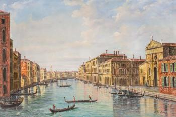 Free copy of A. Canaletto's painting. The Grand Canal, Venice, View from the South-East. Romm Alexandr