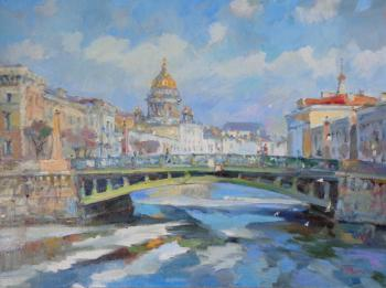 April, Potseluev bridge. Rusanov Aleksandr