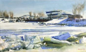 March ice on the Volga. Silantyev Vadim