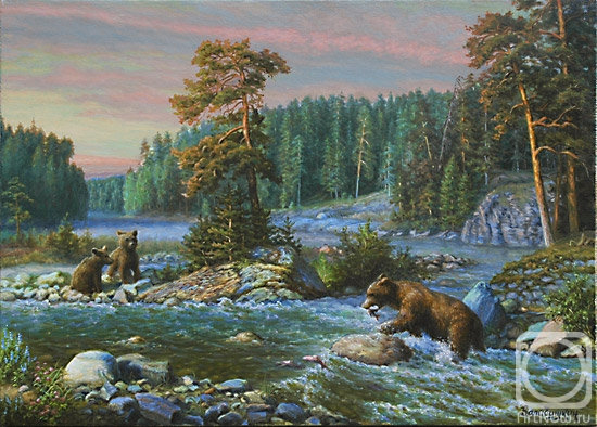 Автор картины - художник Балабушкин Сергей Владимирович.