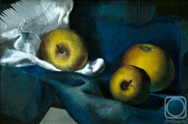 Гогадзе Валерий. Яблоки на синем