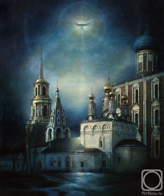Миронов Андрей. Вид на церковь Богоявления Рязанского Кремля.