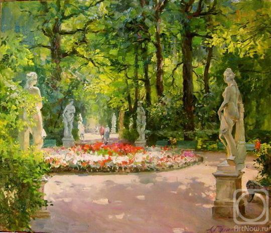 Галимов Азат. Летний сад. Центральная аллея