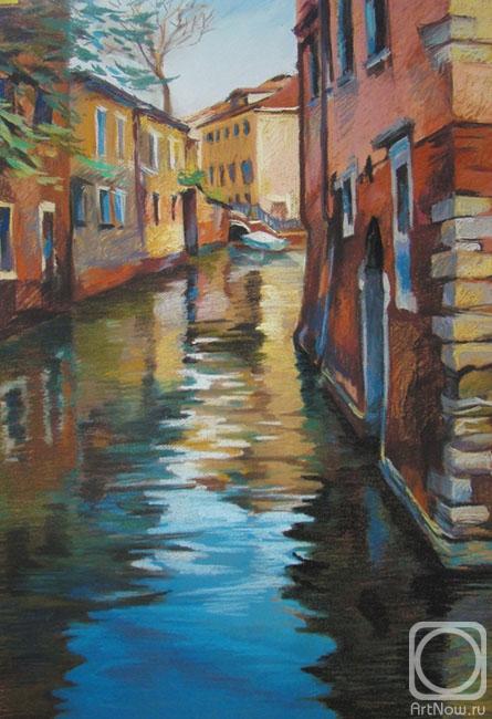 Рисуем пастелью венецию