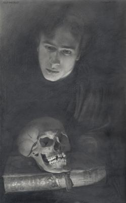 Chernov Denis. Selfportrait with a Skull