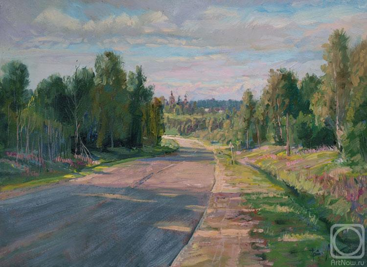 Loukianov Victor. The Road to the village Uslavtsevo
