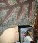 Пингвин-скалолаз (фрагмент оформления детского сада)