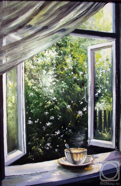Грохотова Светлана. Окно с видом на сад