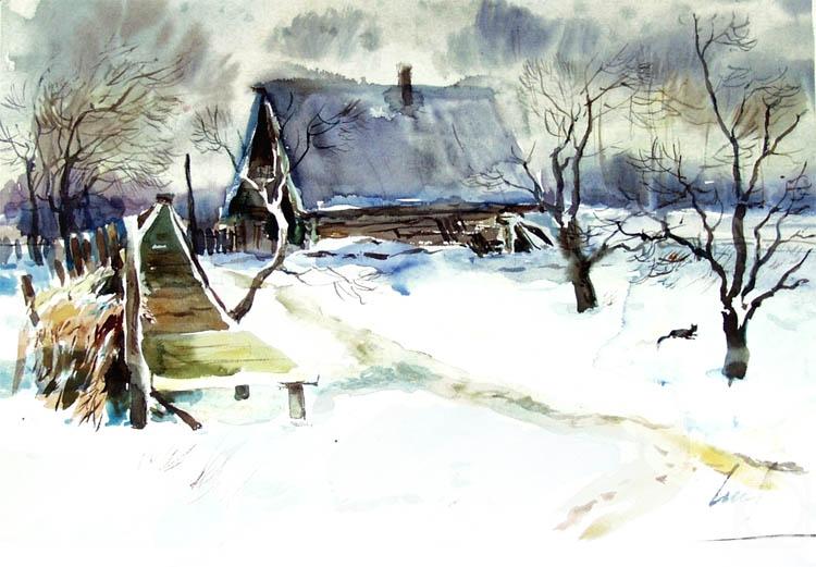 Чистяков Юрий. Зима в деревне