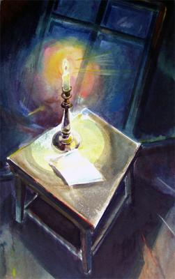 """A candle glowed on the table... "". Chistyakov Yuri"