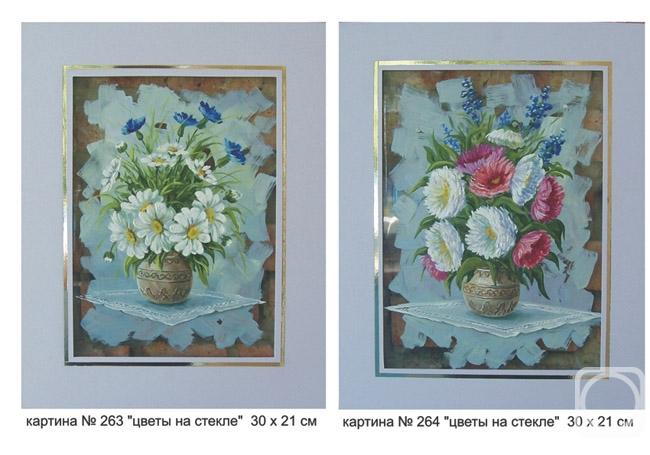 Картины художника цветы на стекле