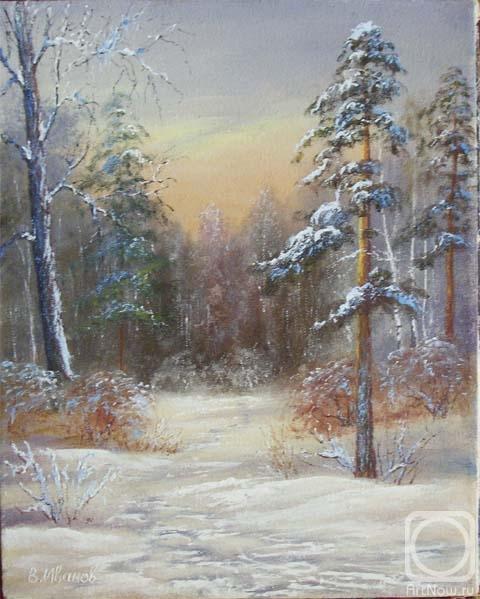 Картины художника зимний лес