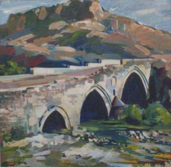 The old bridge in Ashtarak (Armenia)