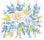 """Схемы вышивки  """"голубые цветы """" - Схемы вышивки по тегам - Портал  """"Вышивка крестом """" ."""