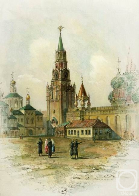 Panin Sergey. A view in the Kremlin, at the Spassky gates