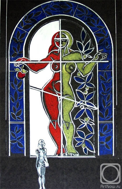 Chistyakov Yuri. Eve. Stained glass