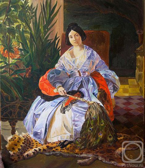 Карл брюллов картины портрет княгини елизаветы описание