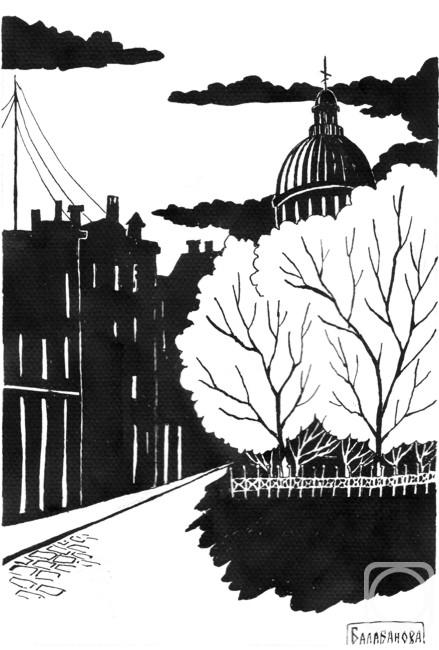 рисунки черно белым карандашом на тему город систем